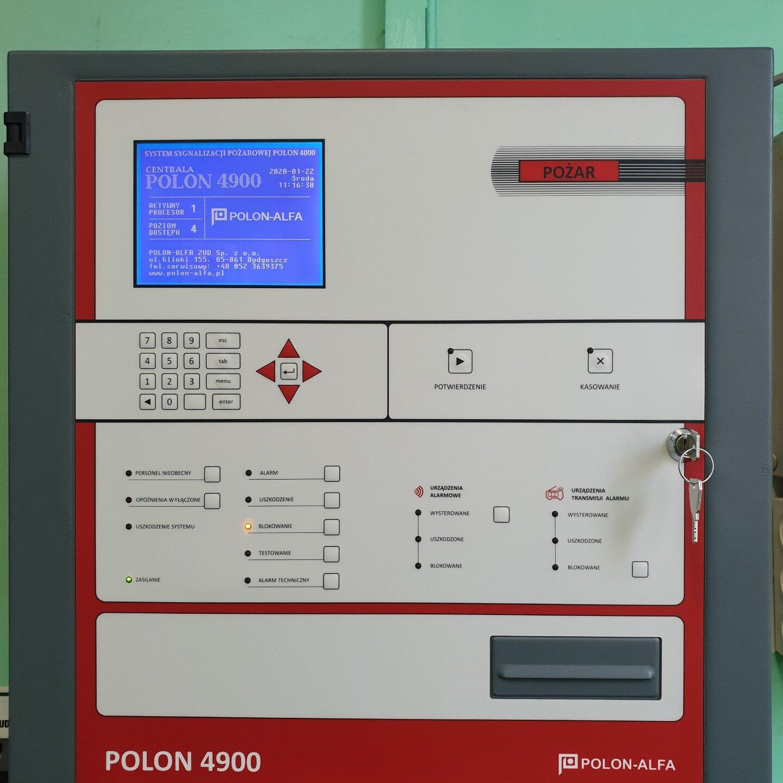 Realizacja FPI - Montaż systemu sygnalizacji pożaru Polon 4900