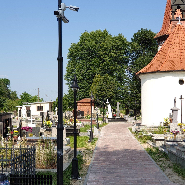 Realizacje FPI - Montaż monitoringu wizyjnego na cmentarzu komunalnym w Niepołomicach